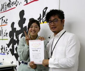 サラダホーム工務部 後藤真友さんと坂井社長