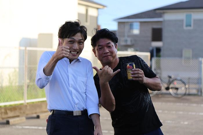 坂井さんと臼井坂井建設暑気払い 大分の工務店 サラダホームスタッフブログ