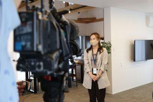 阿部茉伊香さんのインタビュー時の写真