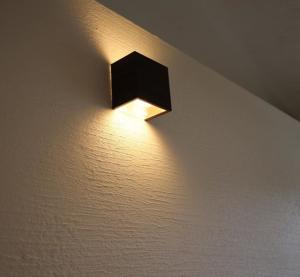 外壁の照明の写真