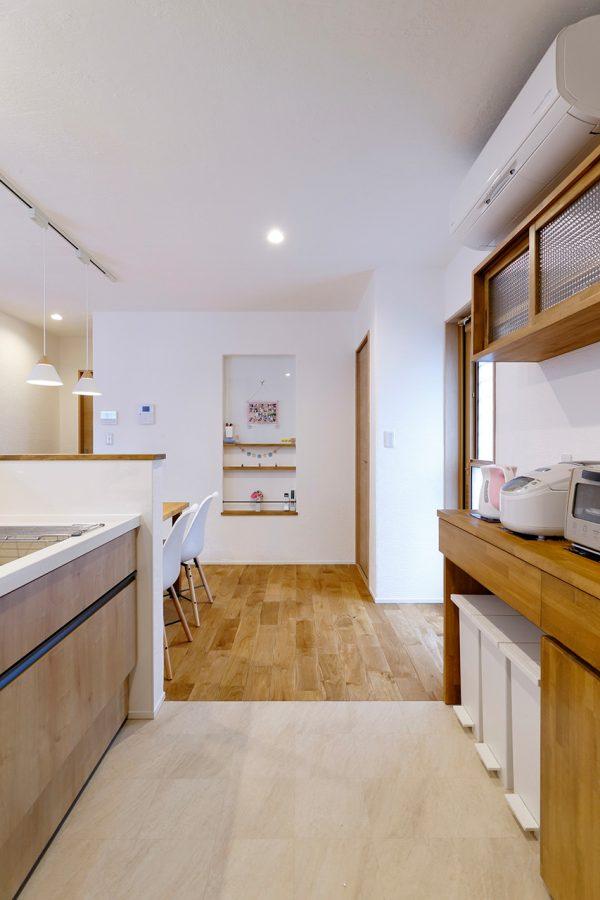注文住宅の2階建て 施工事例 キッチン