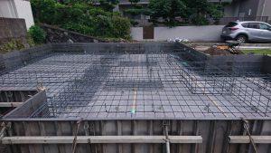 新しく注文住宅の基礎工事が始まりました!お家の丈夫な土台づくり!