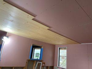 アクセント天井板貼り|ALP新サラダホームモデルハウス