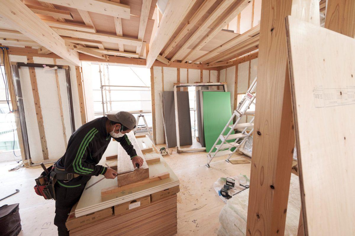 長期優良受託での家造りの現場写真