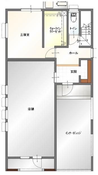 大分市古ケ鶴店舗付きデザイン分譲住宅 _間取り_1階