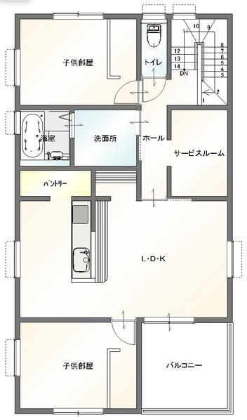 大分市古ケ鶴店舗付きデザイン分譲住宅 _間取り_2階