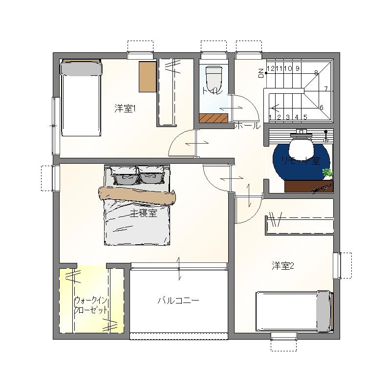 大分市田尻デザイン分譲住宅 田尻の家 1階平面図